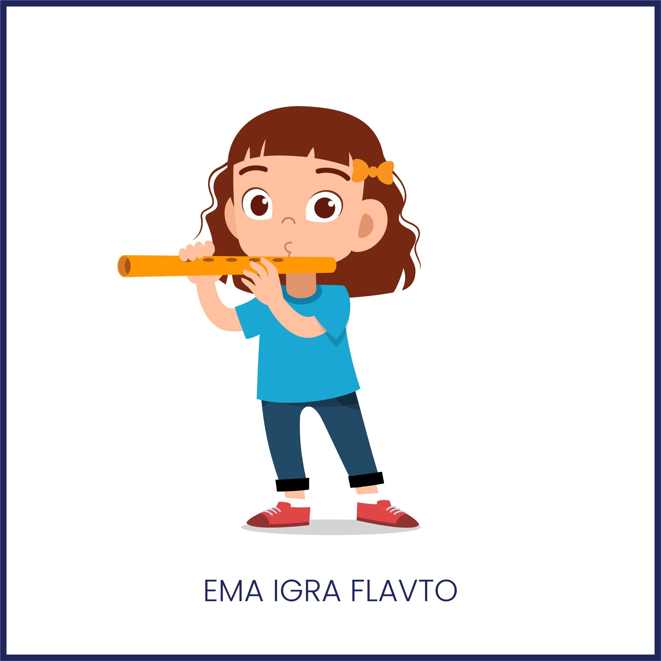 POBARVANKA: Ema igra flavto