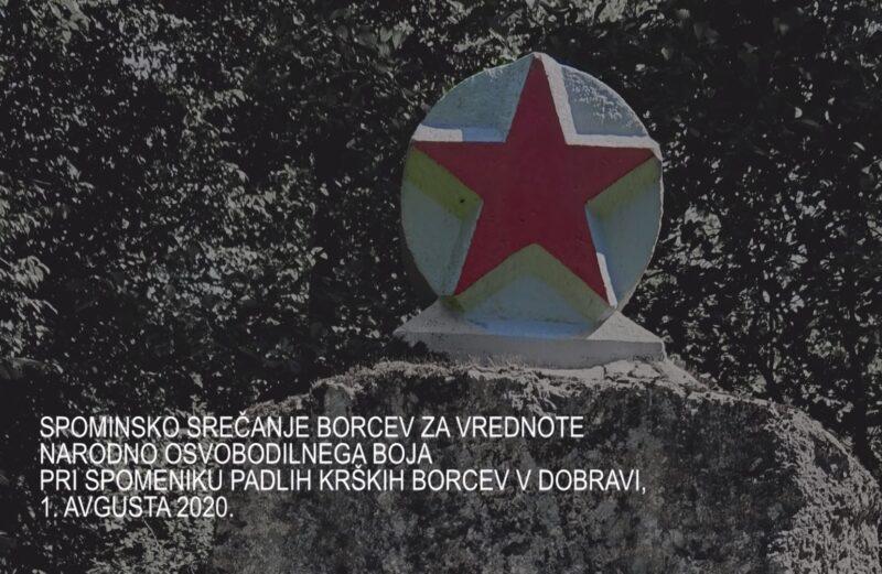 Spominsko srečanje borcev  za vrednote NOB v gozdu Dobrava